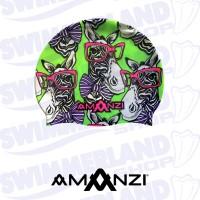 Zany Zebra Swim Cap