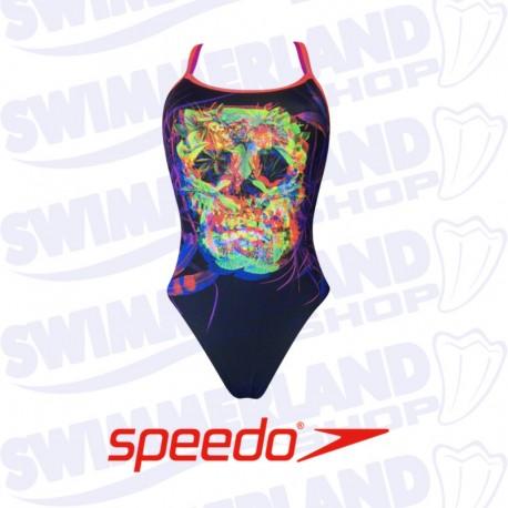 Speedo Psychedelic Fusion Double Crossback Costume da Bagno Donna