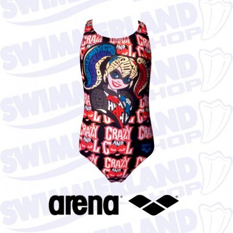 033a6224f5ec Costume bambina nuoto Arena G Super Hero Jr – Harley Quinn