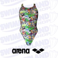 W Summer Comics Swim Tech