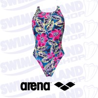 W Tropical Sketch Swim Tech